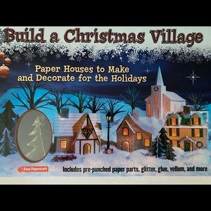 Build Christmas Village Paper Houses Craft Kit NEW